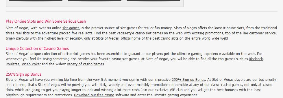 Slots of Vegas Casino Bonuses Codes 6